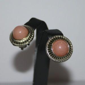 Vintage silver and pink earrrings